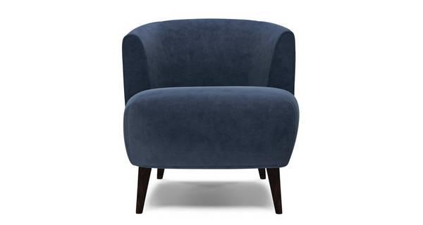 Zinc Velvet Plain Tub Chair