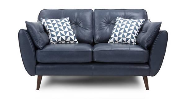 Zinc Leather 2 Seater Sofa