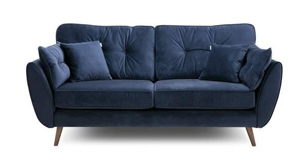 Zinc Velvet-3 Seater Sofa
