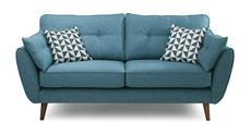 Zinc Fabric 3 Seater Sofa