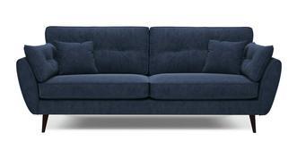 Zinc Velvet 4 Seater Sofa