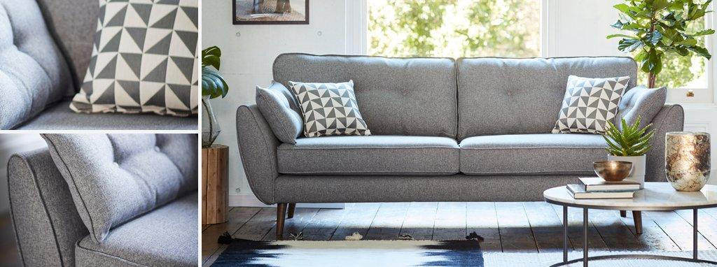 Zinc Modern fabric sofa by French Connection