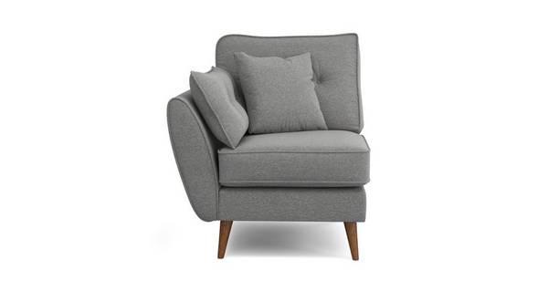 Zinc Weave Left Hand Facing 1 Arm 1 Seat Unit