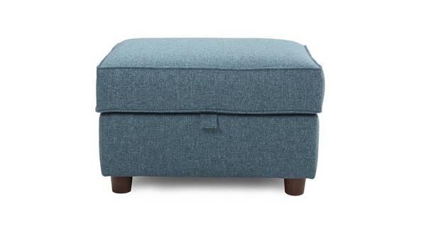 Zinc Plain Storage Footstool