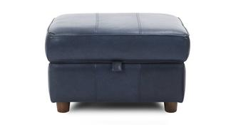 Zinc Leather Storage Footstool
