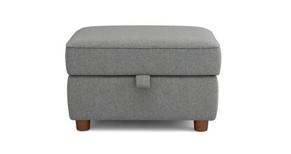 Zinc Weave Storage Footstool