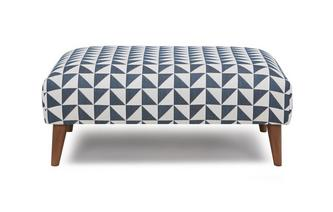 Pattern Large Footstool Zinc Pattern