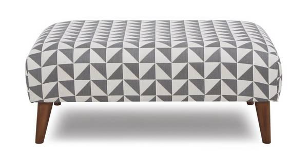 Zinc Pattern Large Footstool