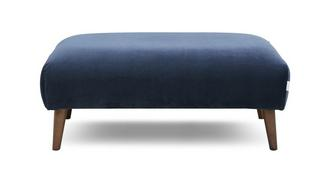 Zinc Velvet Large Footstool