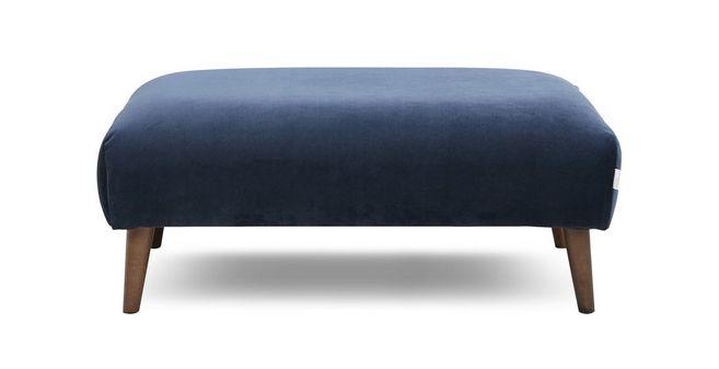 Marvelous Zinc Velvet Plain Large Footstool Theyellowbook Wood Chair Design Ideas Theyellowbookinfo