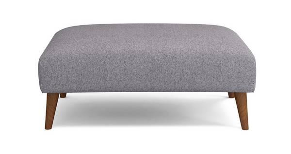 Zinc Plain Large Footstool