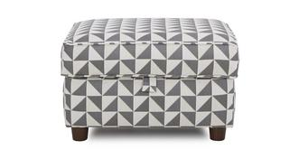 Zinc Pattern Storage Foostool