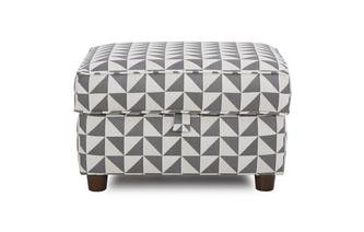 Pattern Storage Footstool Zinc Pattern