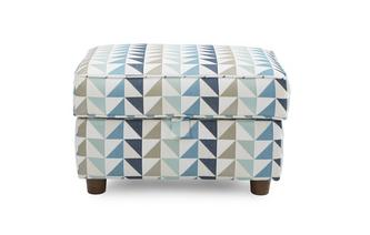 Zinc Pattern Storage Footstool Zinc Pattern