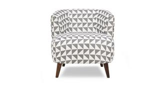 Zinc Express Pattern Tub Chair