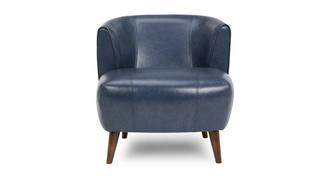 Zinc Express Leather Plain Tub Chair