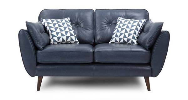 Zinc Express Leather 2 Seater Sofa