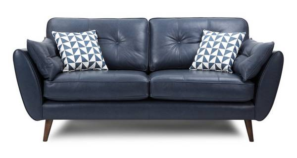 Zinc Express Leather 3 Seater Sofa