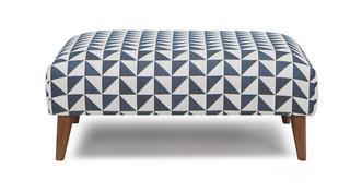 Zinc Express Pattern Large Footstool
