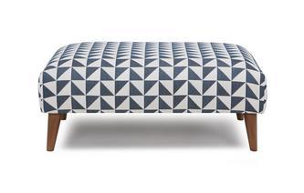 Pattern Large Footstool Zinc Express Pattern