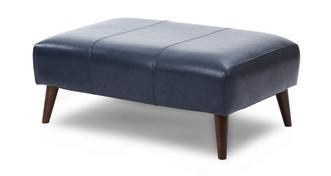 Zinc Express Leather Plain Large Footstool
