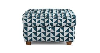 Zinc Express Pattern Storage Footstool