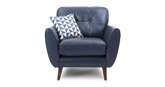 Zinc Leather Fauteuil