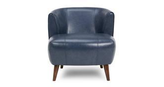 Zinc Leather Tub Chair