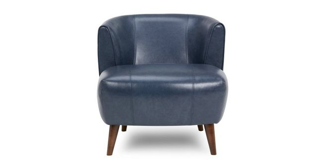 zinc leather tub chair dfs