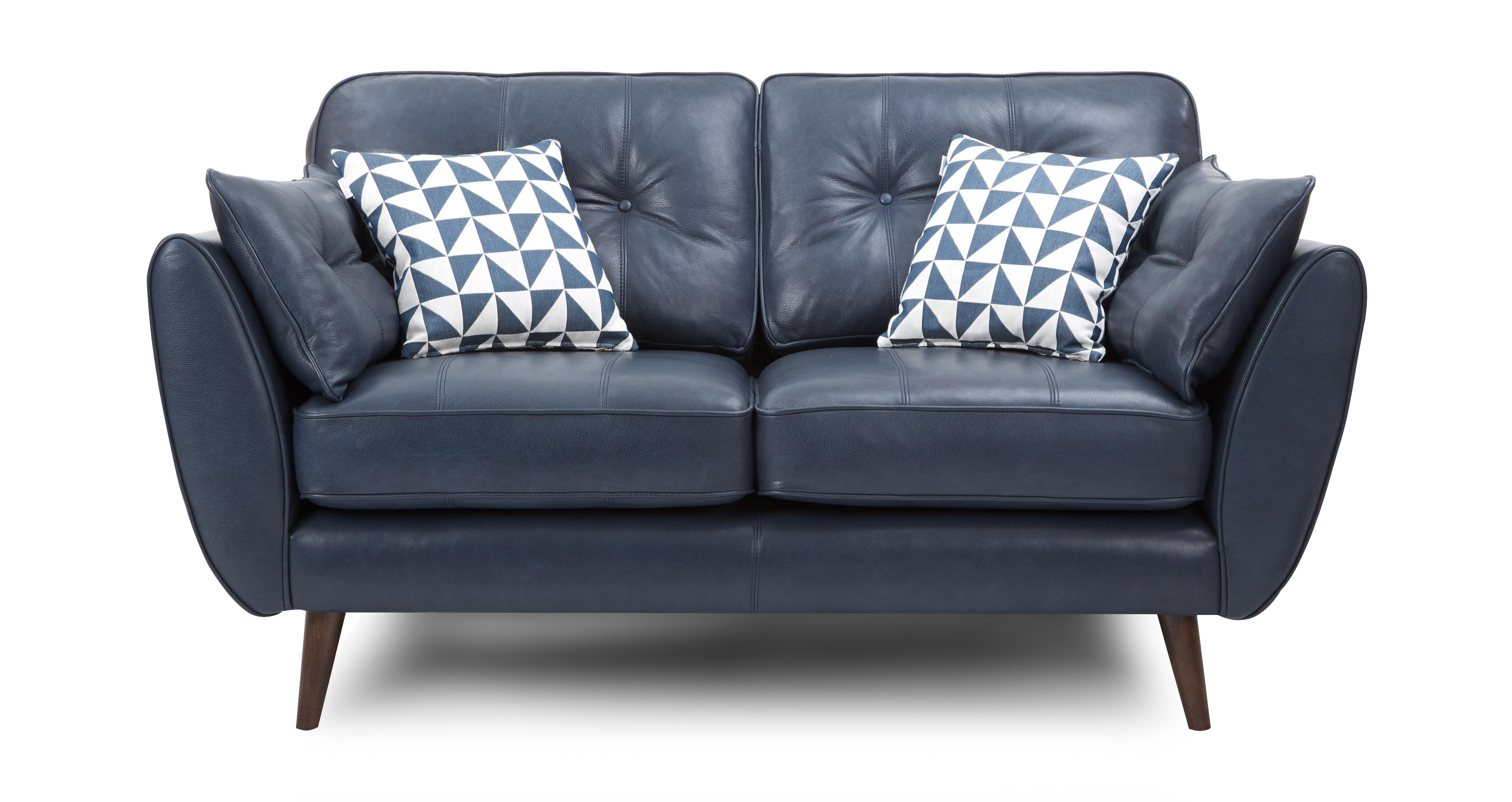 Zinc leather 2 seater sofa dfs ireland for 2 seater sofa