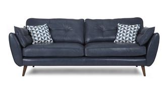 Zinc Leather 4 Seater Sofa