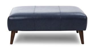 Zinc Leather Large Footstool