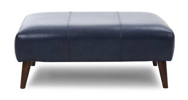 Zinc Leather Large Footstool