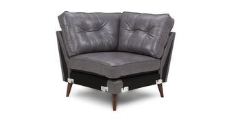 Zinc Leather Corner Unit