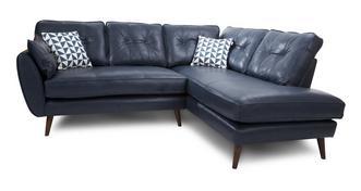 Zinc Leather Left Arm Facing Corner Group