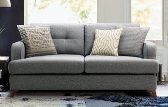 Zircon 3 Seater Sofa Zircon Plain
