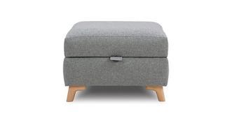 Zircon Plain Storage Footstool