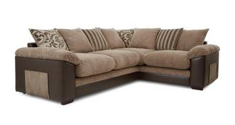 Zodiac Left Hand Facing 2 Seater Pillow Back Corner Sofa