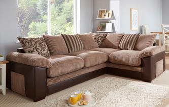 Zodiac Left Hand Facing 2 Seater Pillow Back Corner Sofa Inception