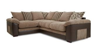 Zodiac Right Hand Facing 2 Seater Pillow Back Corner Sofa
