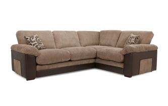 Left Hand Facing Formal Back Deluxe Corner Sofa Bed Inception