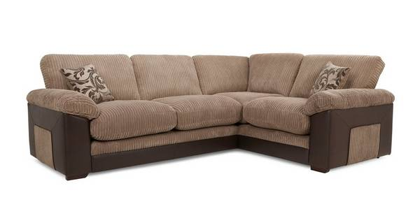 Zodiac Left Hand Facing Formal Back Deluxe Corner Sofa Bed