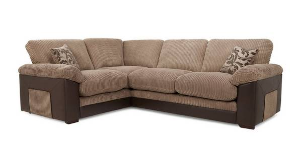 Zodiac Right Hand Facing Formal Back Deluxe Corner Sofa Bed