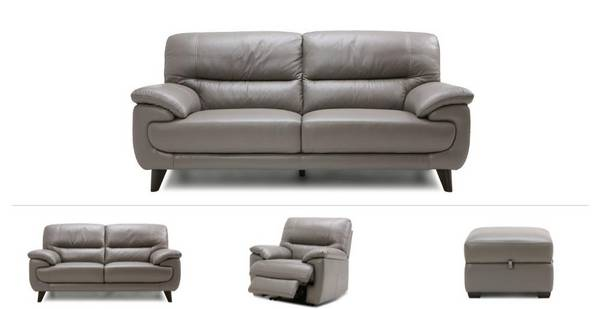 Zulu Clearance 3 Seater Sofa, 2 Seater, Power Recliner Chair & Footstool
